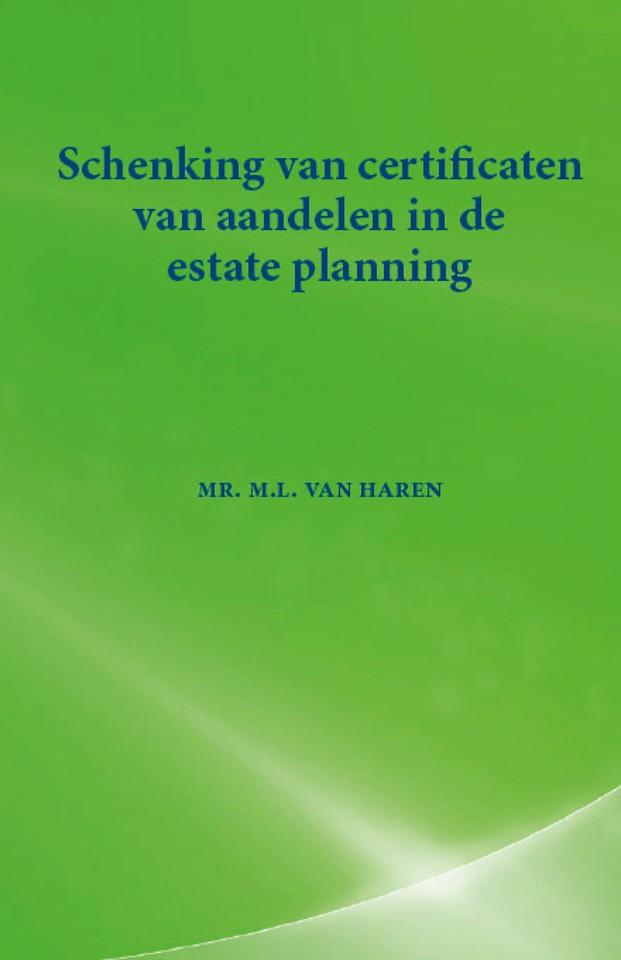 Schenking van certificaten van aandelen in de estate planning