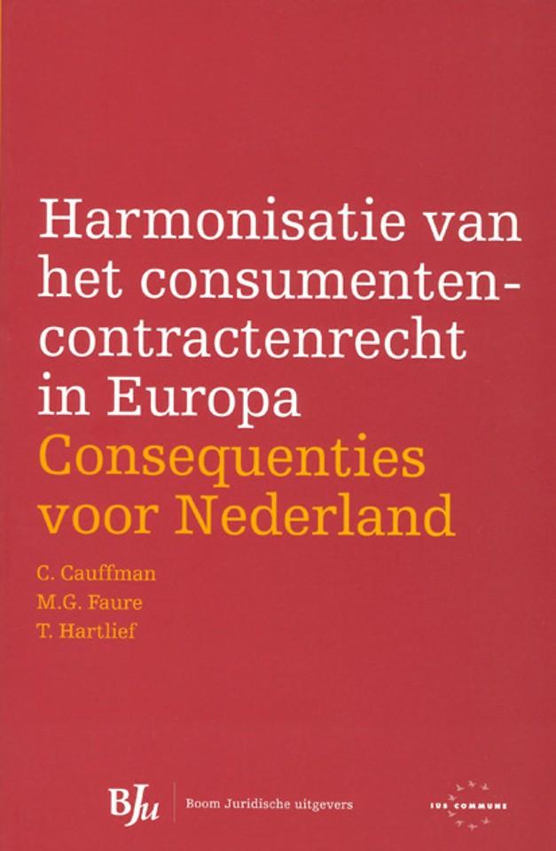 Harmonisatie van het consumentencontractrecht in Europa