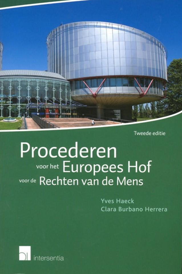 Procederen voor het Europees Hof voor de Rechten van de Mens