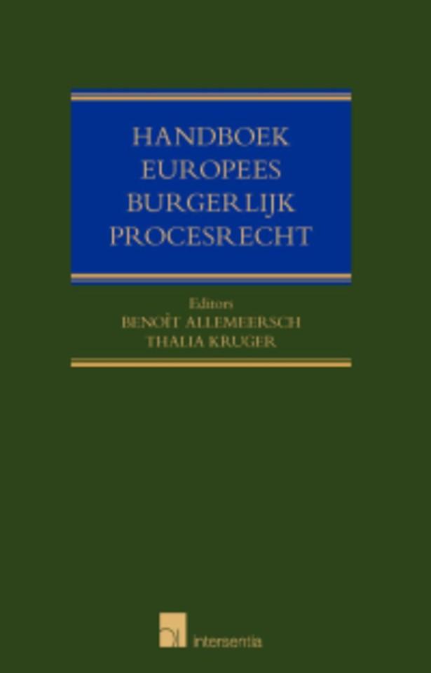 Handboek Europees burgerlijk procesrecht
