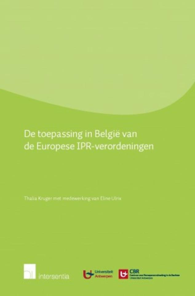 Toepassing in België van de Europese IPR-verordeningen