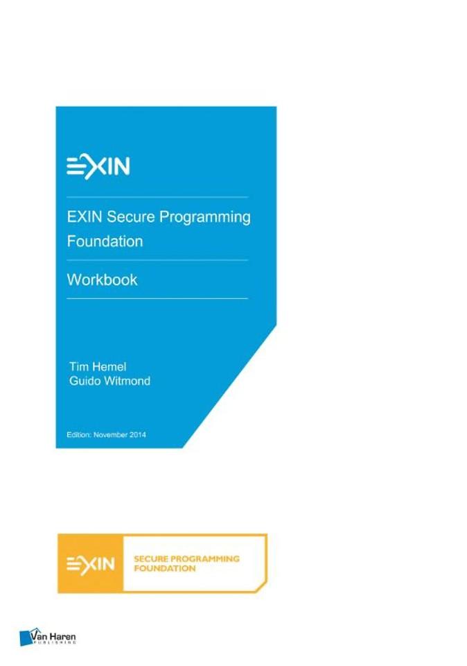 EXIN Secure Programming Foundation - Workbook