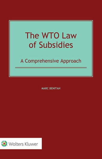 WTO Law of Subsidies
