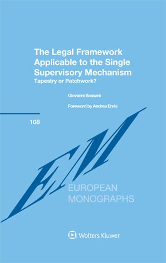 Legal Framework Applicable to the Single Supervisory Mechanism