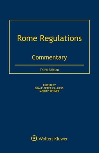Rome Regulations: Commentary