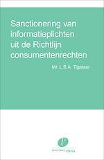 Sanctionering van informatieplichten uit de Richtlijn consumentenrechten