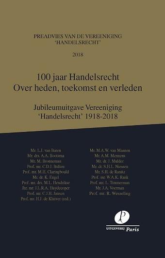 100 jaar Handelsrecht - Over heden, toekomst en verleden