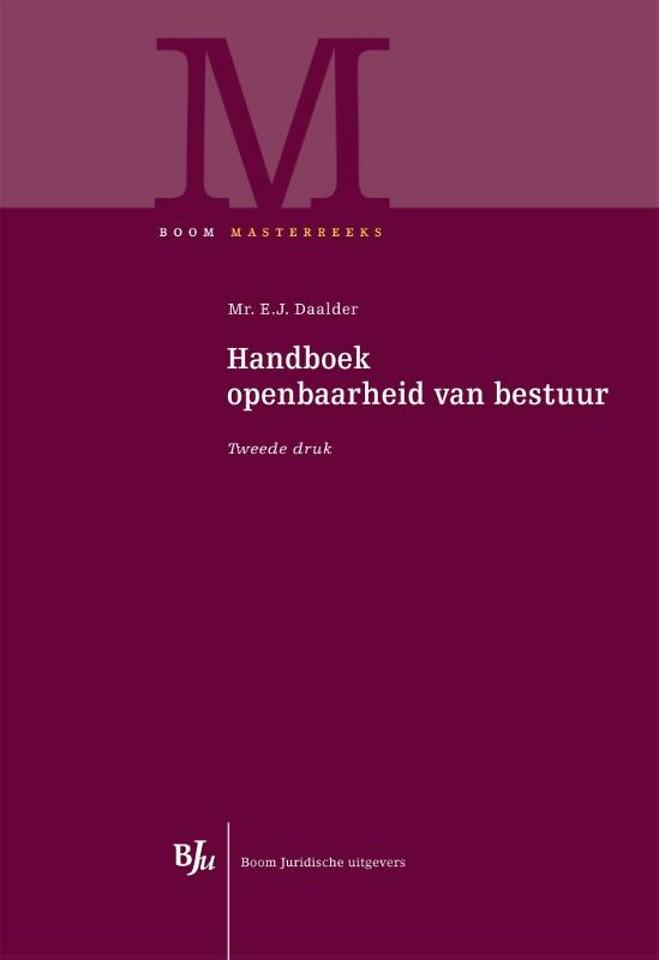Handboek openbaarheid van bestuur