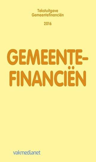 Tekstuitgave Gemeentefinanciën 2016