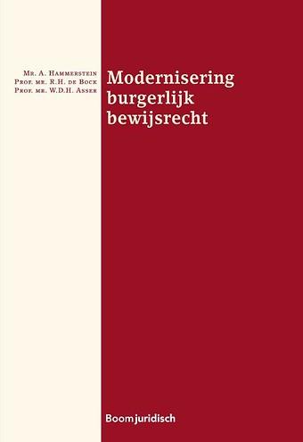 Modernisering burgerlijk bewijsrecht