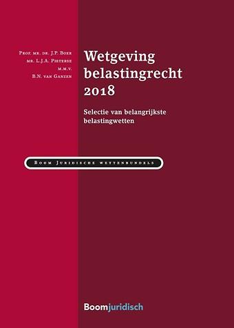 Wetgeving belastingrecht 2018