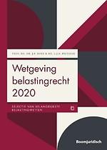 Wetgeving belastingrecht 2020