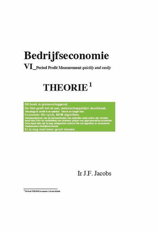 Bedrijfseconomie VI - Grensverleggend