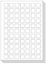 Pictoagenda blanco stickervellen (25 stuks)