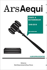 Jurisprudentie Staats- en bestuursrecht 1849-2019 (6e herziene editie)