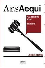 Jurisprudentie Faillissementsrecht 1953-2019