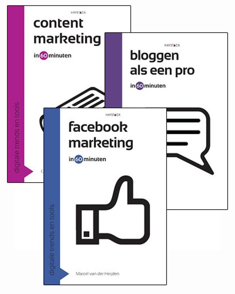 Pakket Contentmarketing, Bloggen als een pro en Facebookmarketing in 60 minuten