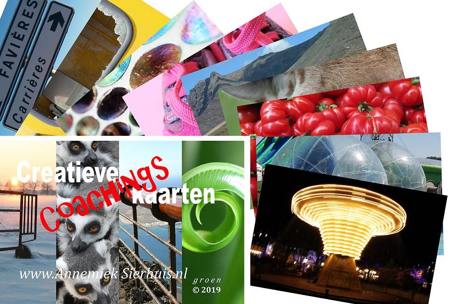 Creatieve Coachingskaarten - Speelkaartformaat - editie Groen