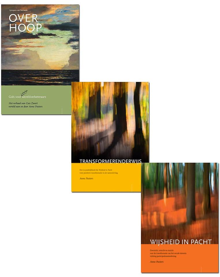 Boeken set: Over Hoop, Transformerenderwijs en Wijsheid in Pacht