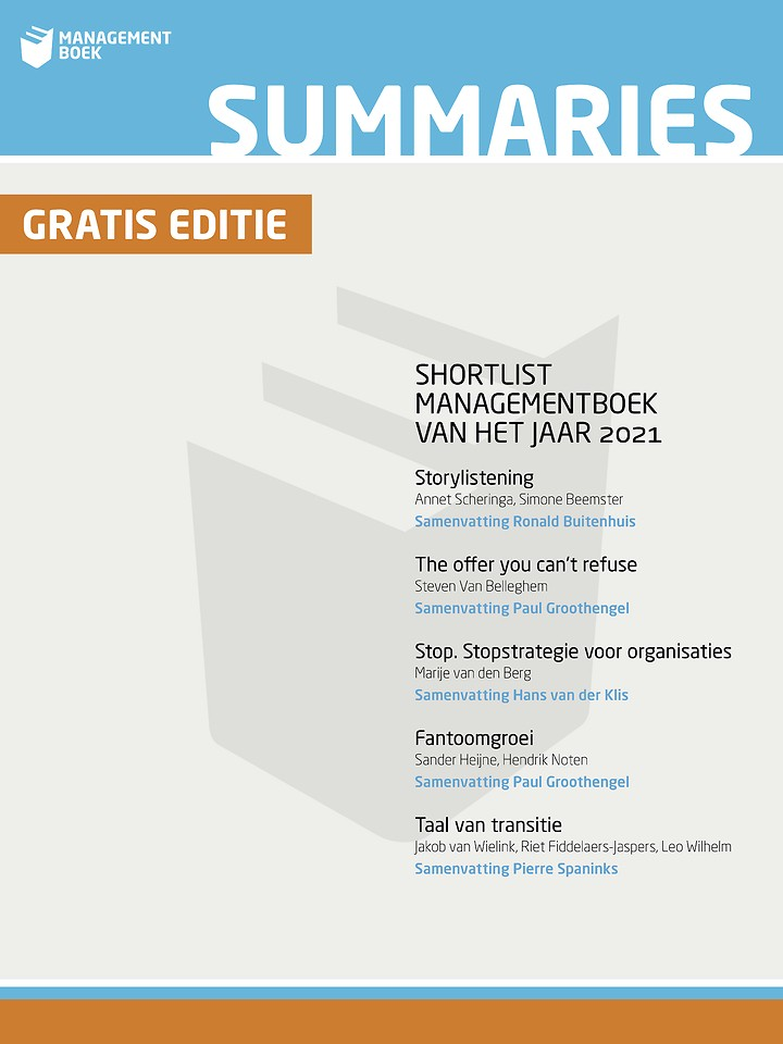 Summaries Shortlist Managementboek van het Jaar 2021